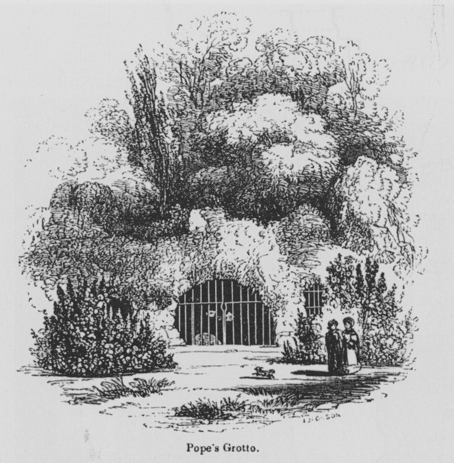 Pope's Grotto in 1845 after the demolition of his Villa