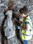 Cleaning the statue of St James